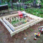 Установка опалубки на могиле