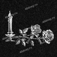 Свеча на памятник №Д202 (с двумя розами)