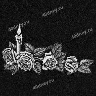 Свеча с розами для гравировки №Д203