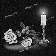 Свеча на памятник №Д210 (с двумя розами)